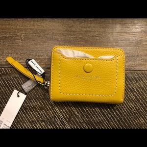 Marc Jacobs mini leather wallet with a snap